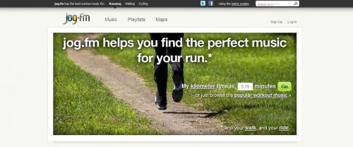 Jog.fm – быстрый подбор музыки для бега