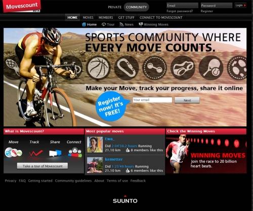 Спортивная социальная сеть Movescount