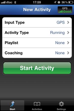 RunKeeper: Start Activity